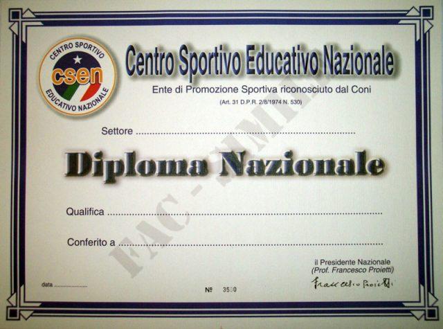 Istruttori survival csen diploma